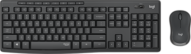 Беспроводной комплект Logitech Wireless Desktop Combo MK295 Silent Combo GRAPHITE Retail