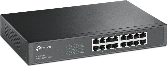 Коммутатор TP-LINK TL-SG1016D 16-port Desktop Gigabit Switch, 16*10/100/1000M RJ45 ports