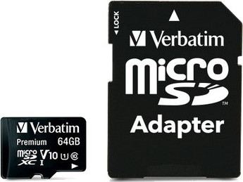 Micro Secure Digital 64GB Verbatim (44084) SDXC (Class 10) + adapter