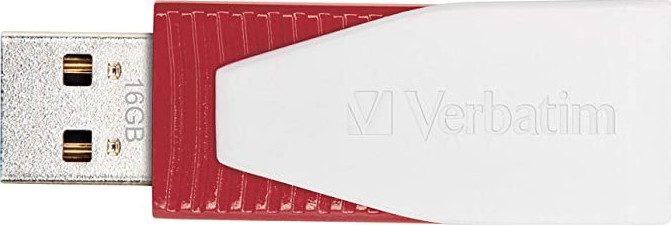 USB Flash Drive 16GB Verbatim (SWIVEL RED) USB2.0 (49814)
