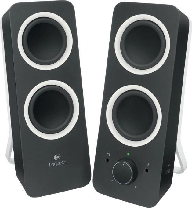 Звуковые колонки Logitech Z200 Speakers Midnight Black