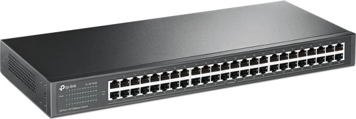 Коммутатор TP-LINK TL-SF1048 48-port 10/100M Switch, 48 10/100M RJ45 ports, 1U 19RM