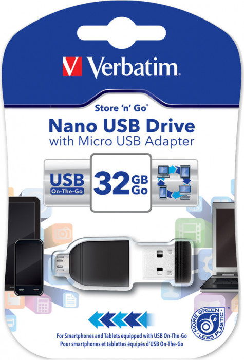 USB Flash Drive 32GB Verbatim (OTG USB DRIVE) USB2.0 (49822)