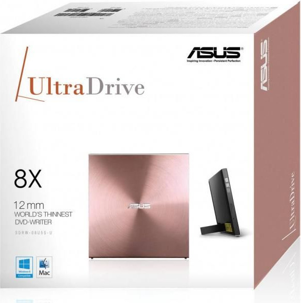DVD-RW ASUS (SDRW-08U5S-U/PINK/G/AS) PINK, USB External