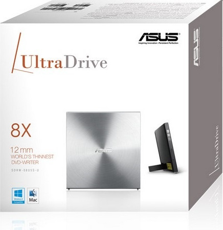DVD-RW ASUS (SDRW-08U5S-U/SIL/G/AS) SILVER, USB External