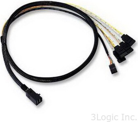 Кабель LSI Logic ( LSI00410 ) MINI SAS HD internal cable SFF8643 to x4 SATA