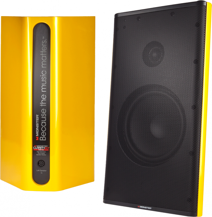 Звуковые колонки Monster Clarity HD Model One High Definition (Yellow)