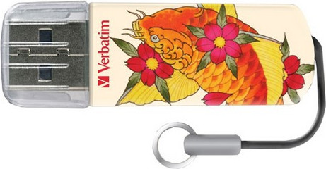 USB Flash Drive 16GB Verbatim (TATTOO EDITION KOI) USB2.0 (49886)