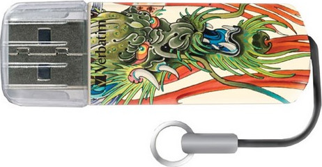 USB Flash Drive 16GB Verbatim (TATTOO EDITION DRAGON) USB2.0 (49888)