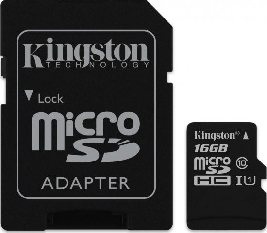 Micro Secure Digital 16GB Kingston (SDC10G2/16GB) SDHC (Class 10)