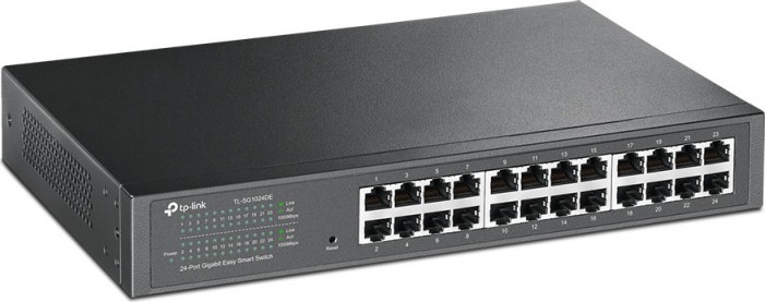 Коммутатор TP-LINK TL-SG1024DE 24-Port Gigabit Easy Smart Switch, 24 10/100/100Mbps RJ45 ports