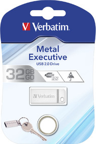 USB Flash Drive 32GB Verbatim (METAL EXECUTIVE SILVER) USB2.0 (98749)