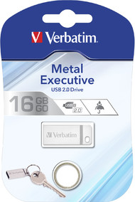 USB Flash Drive 16GB Verbatim ( METAL EXECUTIVE SILVER) USB2.0 (98748)
