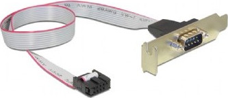 Кабель DB9 serial port receptacle on low-profile bracket, 40 cm flat cable