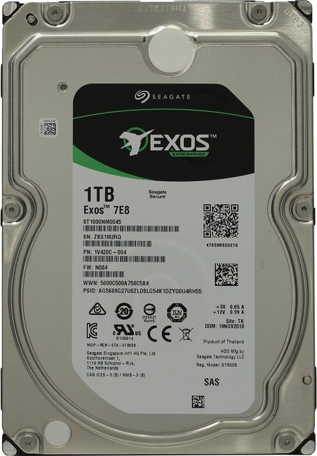 Жесткий диск 3.5 1000Gb (1TB) Seagate Enterprise Capacity 3.5 HDD 7200rpm 128Mb (12GBb/s) SAS2.0