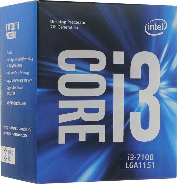 LGA1151 Intel Core i3-7100 (3.90 Ghz 3M, DDR4) BOX
