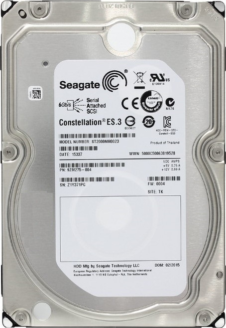 Жесткий диск 3.5 2000Gb (2TB) Seagate Constellation ES 7200rpm 128Mb SAS2.0 (6Gb/s)