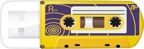 USB Flash Drive 32GB Verbatim (CASSETTE EDITION YELLOW) USB2.0 (49393)