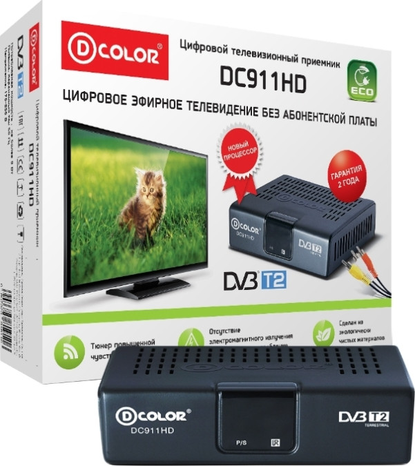 TV-тюнер D-COLOR DC911HD внешний