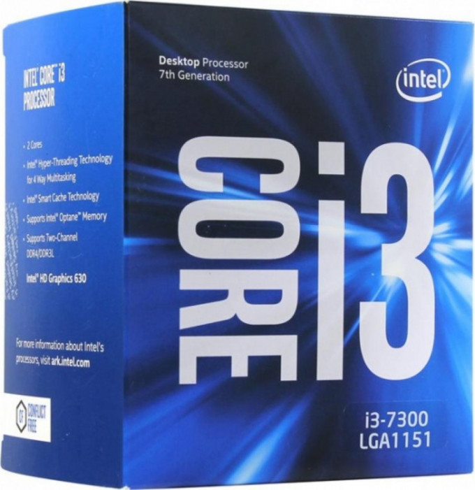 LGA1151 Intel Core i3-7300 (4.00 Ghz 3M, DDR4) BOX