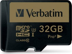 Micro Secure Digital 32GB Verbatim (44033) SDXC PRO+(Class 10) + adapter UHS-III