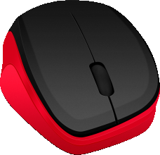 Мышь беспроводная SPEEDLINK LEDGY Mouse - wireless, black-red