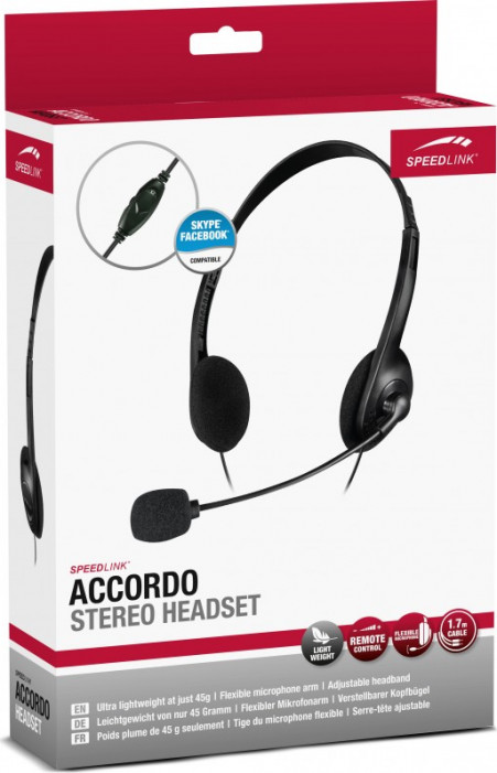Гарнитура SPEEDLINK ACCORDO Stereo Headset, black