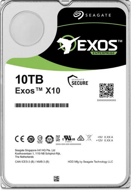 Жесткий диск10000Gb (10TB) Seagate Exos X10 (Enterprise) 256Mb SATA3 (6GB/s) ( ST10000NM0016 )