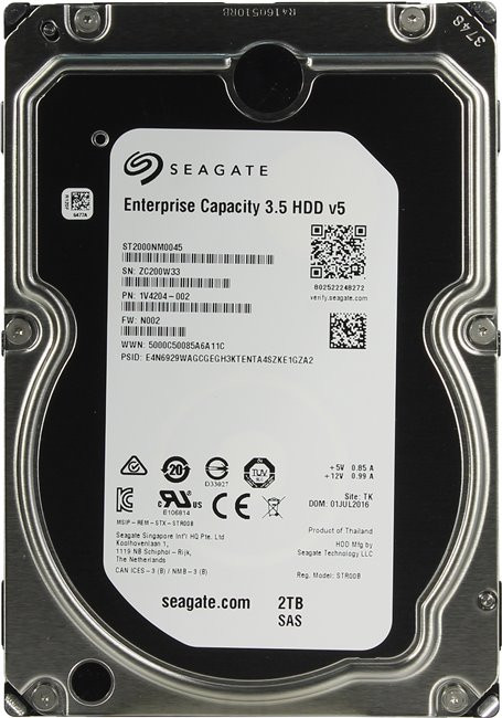 Жесткий диск 3.5 2000Gb (2TB) Seagate Enterprise Capacity 3.5 HDD 7200rpm 128Mb (12GBb/s) SAS2.0
