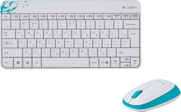 Беспроводной комплект Logitech Wireless Desktop Combo MK240 NANO Retail Белая