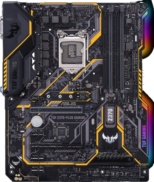 Материнская плата ASUS LGA1151v2 (Gen.8) ( TUF Z370-PLUS GAMING ) ATX. DDR4