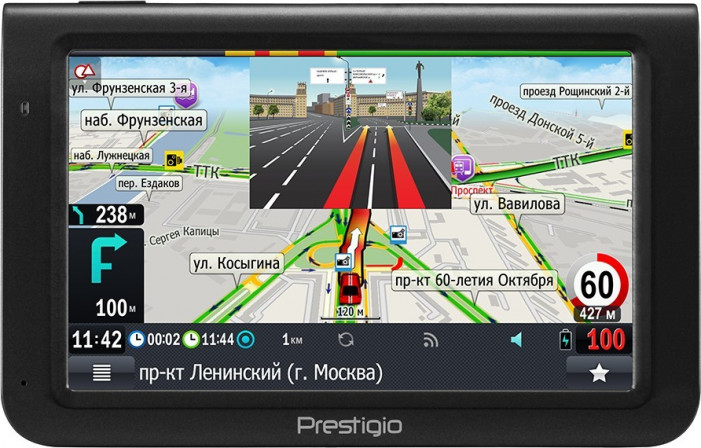 "Навигатор PRESTIGIO GeoVision 5069 (5.0"". TFT. 480х272. Win CE 6.0. CPU MSTAR 2531A 800 MHz. 128 MB"
