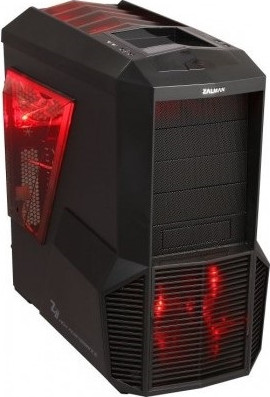 Корпус  Zalman [ Z11 PLUS HF1 ]  (без бп) Black (GAMING), Midi-ATX