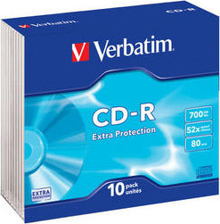 Матрица CD-R 700Mb Verbatim 52X Slim Case (10) EXTRA PROTECTION (43415)
