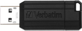 USB Flash Drive 16GB Verbatim (PinStripe black) USB2.0 (49063)