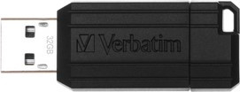 USB Flash Drive 32GB Verbatim (PinStripe black) USB2.0 (49064)