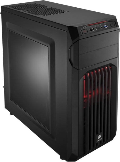 Корпус  Corsair [ Carbide ] Spec-01 BLACK, RED LED, Window (без бп) ATX