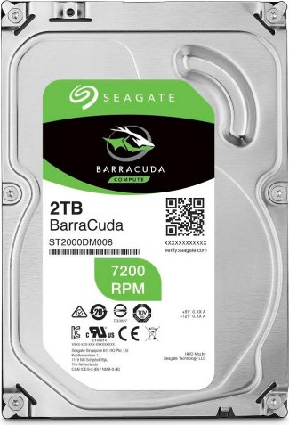 Жесткий диск 2000Gb (2TB) Seagate 7200rpm 256Mb SATA3 (6Gb/s) (ST2000DM008)