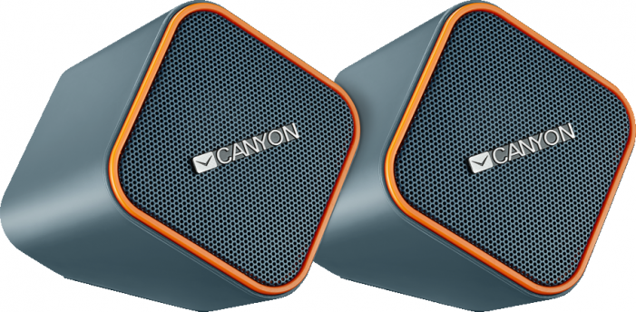 Звуковые колонки Canyon wired stereo Speaker, 1.2m cable with USB2.0 & 3.5mm audio connector, dark g