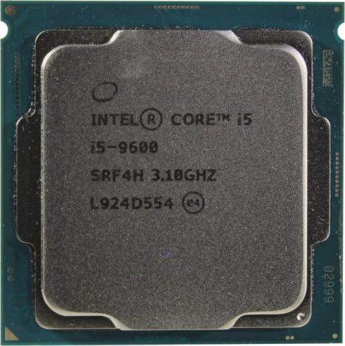LGA1151v2 Intel Core i5-9600K (Gen.9) (3.70 Ghz 9M, DDR4) OEM (без кулера)