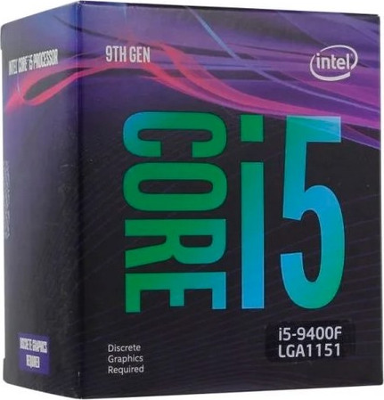 LGA1151v2 Intel Core i5-9400F (Gen.9) (2.90 Ghz 9M, DDR4) BOX. Видео - НЕТ