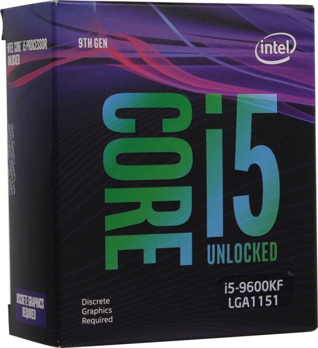 LGA1151v2 Intel Core i5-9600KF (Gen.9) (3.70 Ghz 9M, DDR4) BOX. БЕЗ КУЛЕРА. НЕТ ВИДЕО