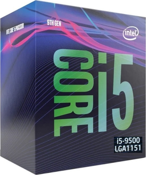 LGA1151v2 Intel Core i5-9500 (Gen.9) (3.00 Ghz 9M, DDR4) BOX. Видео - ЕСТЬ