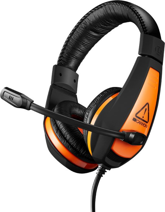Гарнитура CANYON Gaming headset 3.5mm jack with adjustable microphone and volume control, cable 2M,