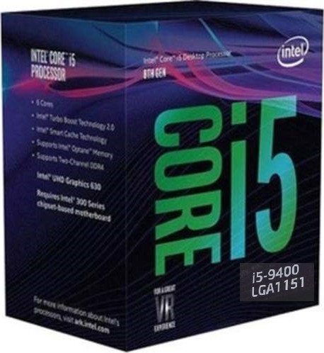 LGA1151v2 Intel Core i5-9400 (Gen.9) (2.90 Ghz 9M, DDR4) BOX. Видео - ЕСТЬ