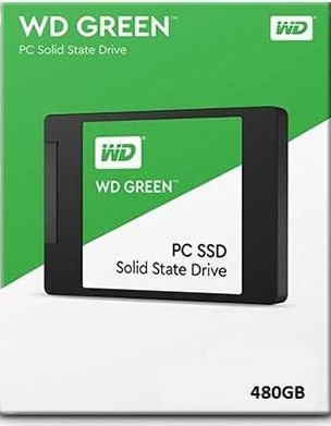 "Диск SSD2.5"" 480Gb WD Green SATA3 (6Gb/s) Retail (WDS480G2G0A)"