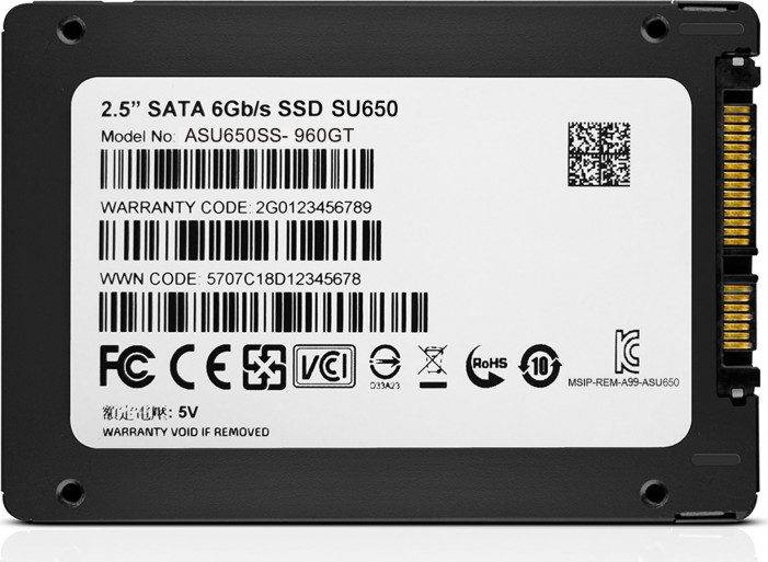 "Диск SSD2.5"" 960Gb ADATA Ultimate SU650 series SATA3 (6Gb/s) (ASU650SS-960GT-R)"