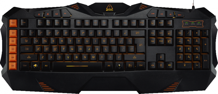 Клавиатура CANYON Wired multimedia gaming keyboard with lighting effect, Marco setting function G1-G