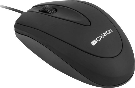 Мышь Canyon CNE-CMS1 optical Mouse with 3 buttons, DPI 1000, Black
